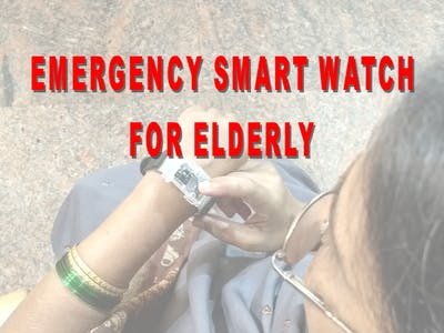 Emergency Watch For Elderly