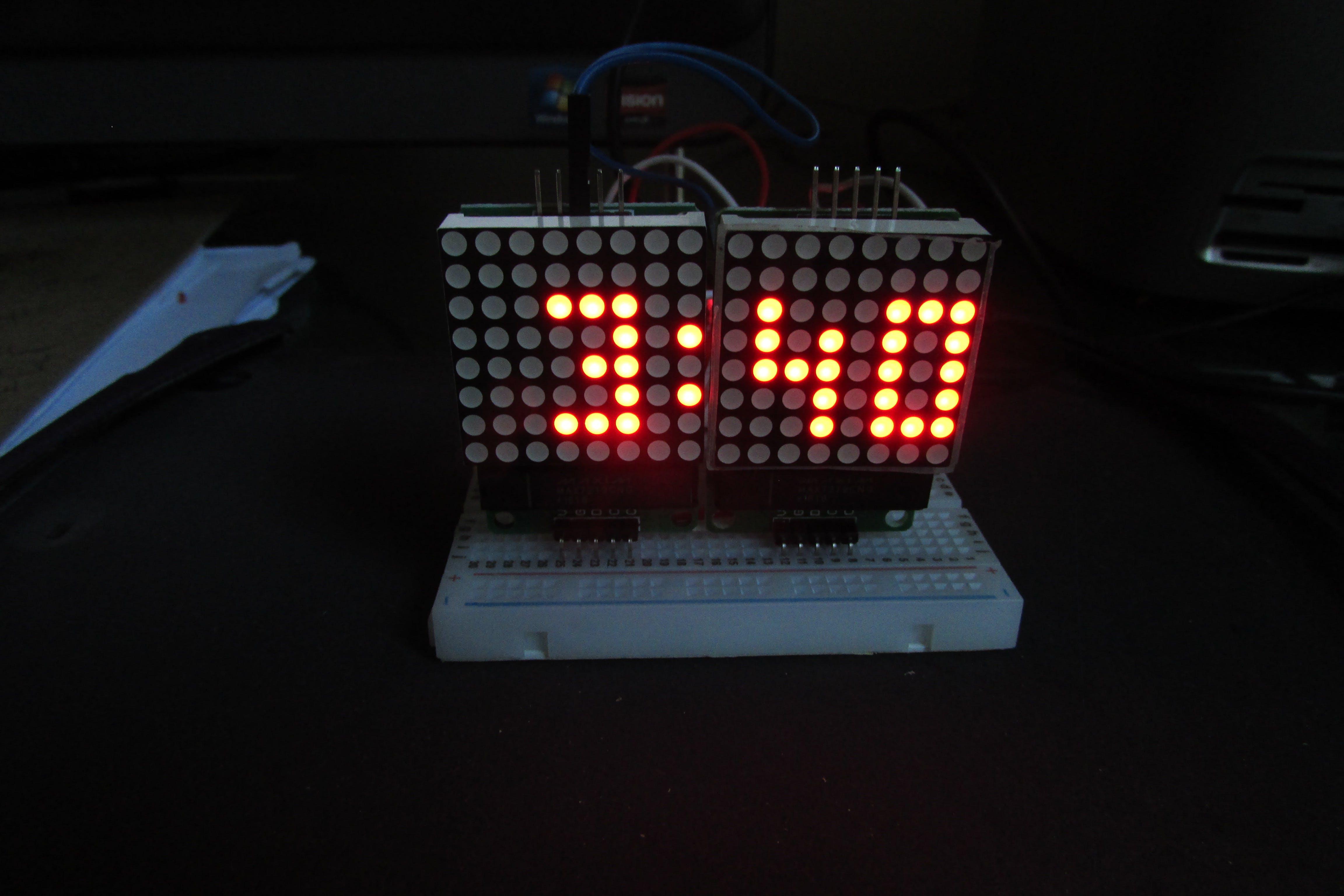 Arduino Cheap Minimal Parts Digital Clock