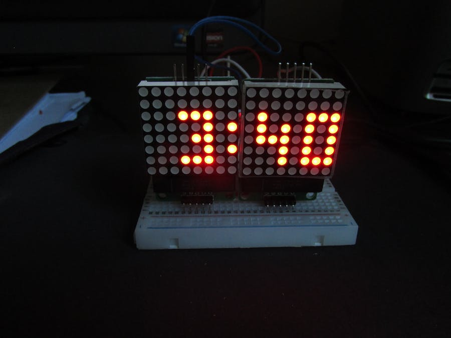 Arduino Cheap Minimal Parts Digital Clock