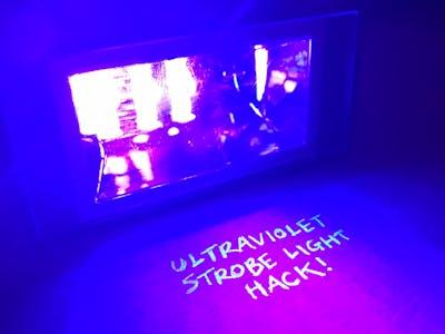 Spooky UV Strobe Light