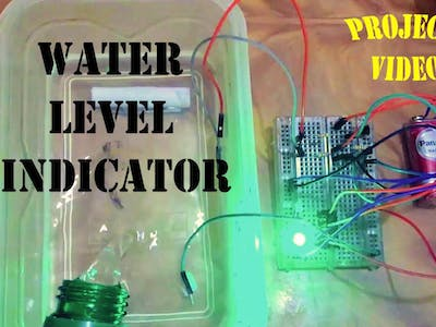 Make a Water Level Indicator Using IC 7404 NOT Gate
