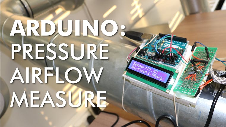 Pressure Airflow Measure Device with Analog Sensor