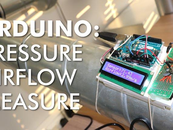 Pressure Airflow Measure Device with Analog Sensor