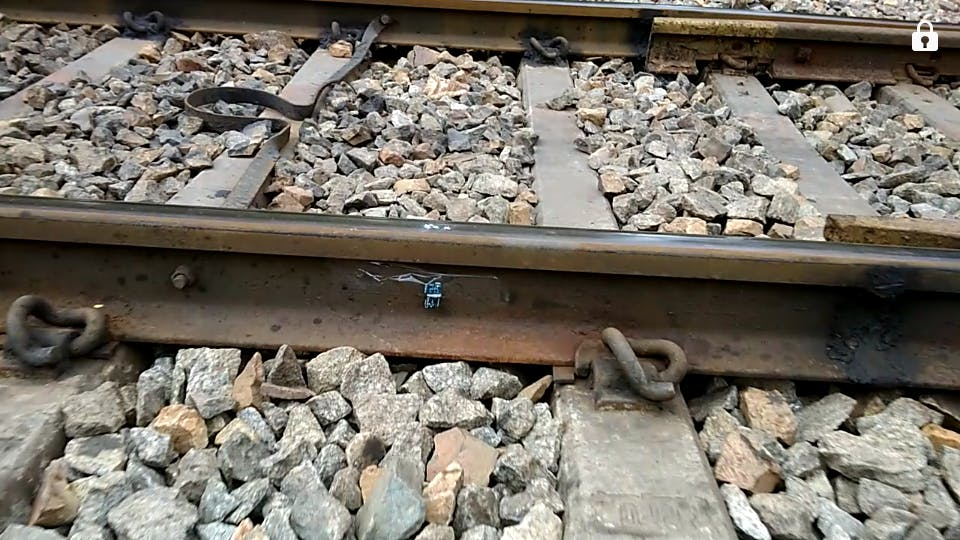 SensorTile placed on the side of track to measure train status when it pass from this.