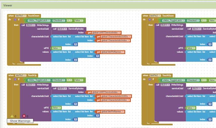 BLE GP-O Controller   MIT App Inv + Feather M0 Bluefruit LE