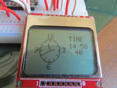 Arduino Analog/Digital Clock with Nokia 5110