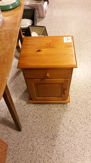 cheap, used bedside table