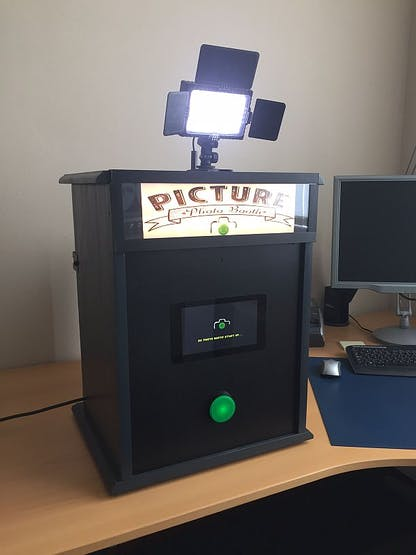The photo booth up and running