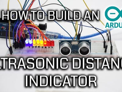 Arduino Ultrasonic Sensor HC-SR04 Full Build and Code