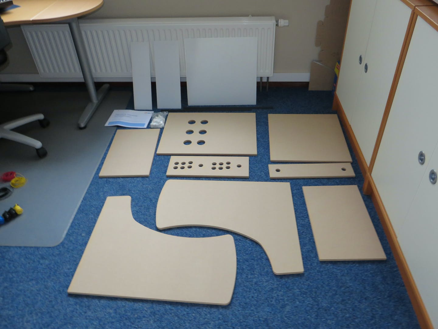 MDF panels and acrylic sheets