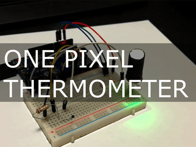 One Pixel Thermometer