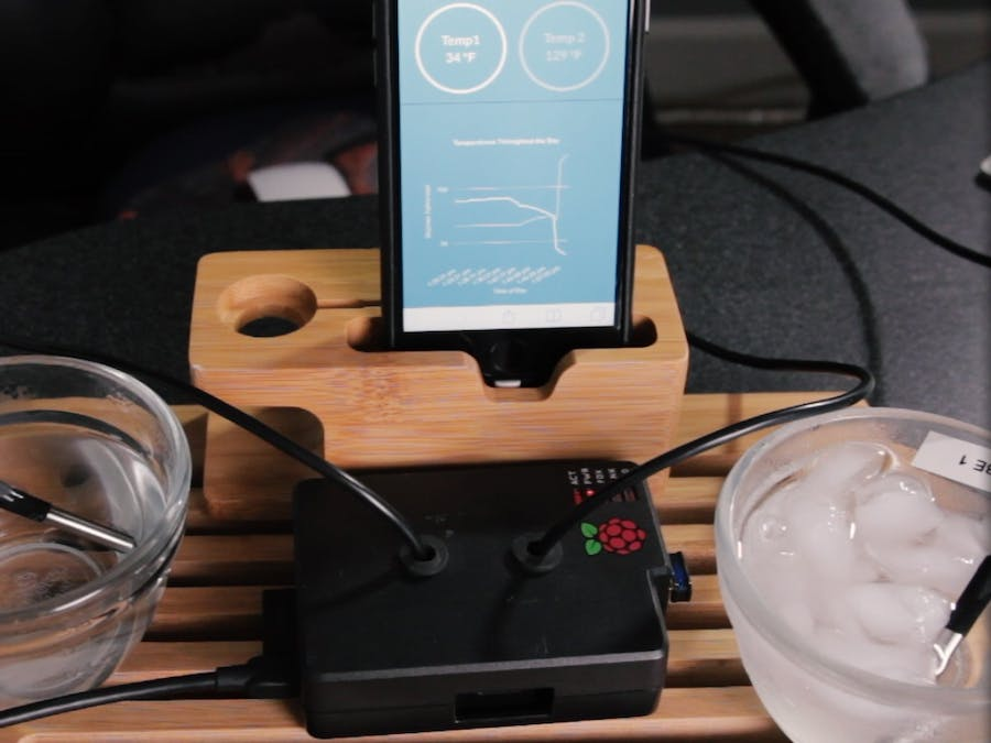 Dual Internet of Things Thermometer & App   Raspberry Pi - Hackster io