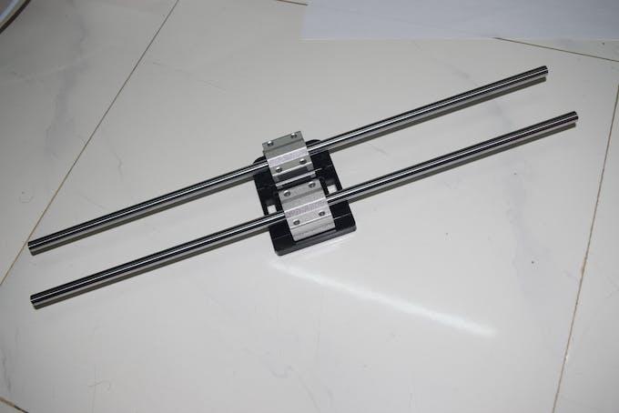 Rail with camera base
