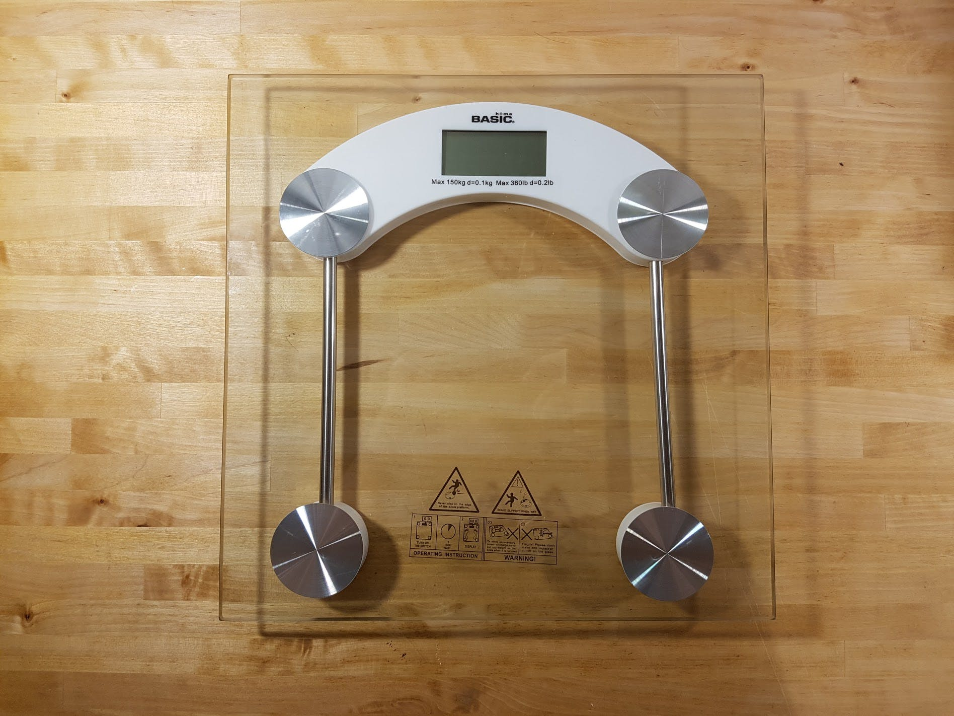 Front of the scale