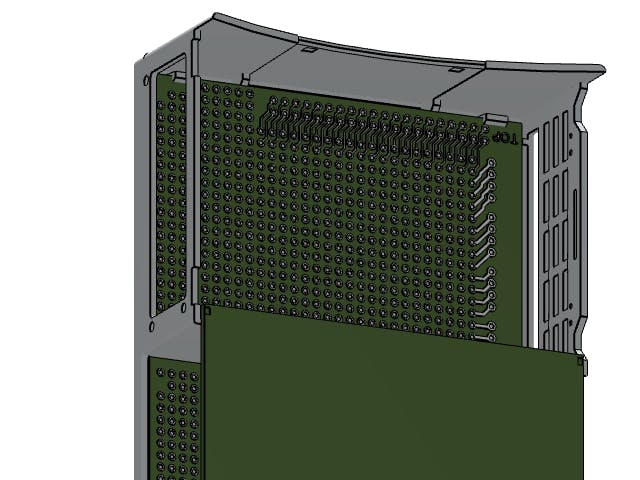 Industrial Pi Hat mounted on DIN enclosure.
