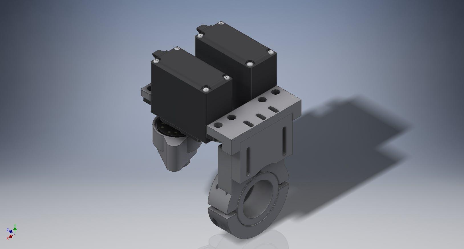 CAD Render of our Temperature Mixer