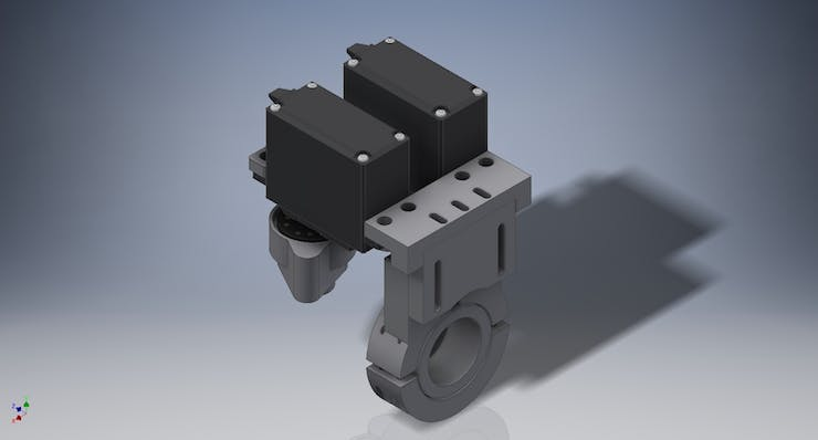 CAD Render of our Temperature Mixer