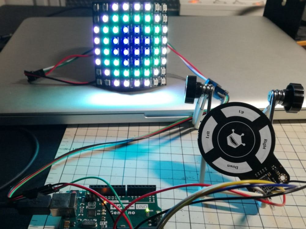 LED Controlled by 3D Gesture Sensor