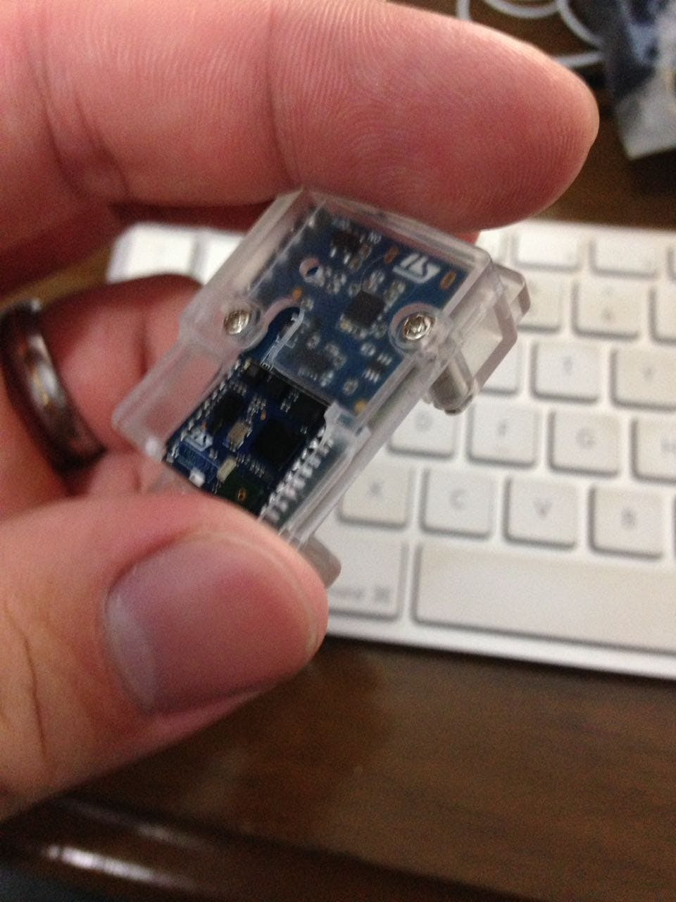 Full assembled sensor node, cute, isn't?