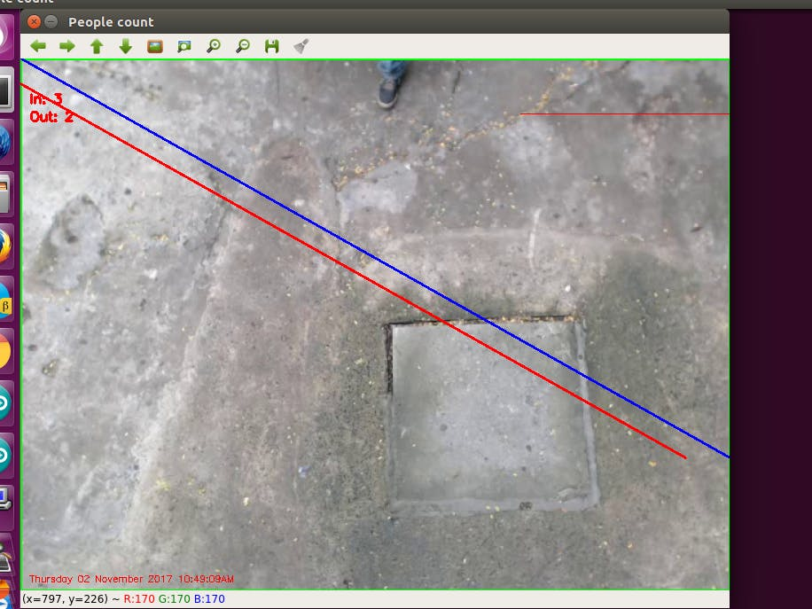 Person Counting System Using Opencv and Python