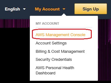 Figure 16. AWS platform Sign in to the AWS