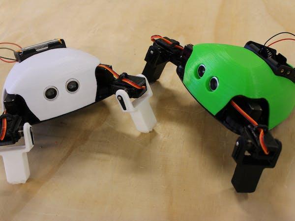 Critter crawling arduino robot hackster