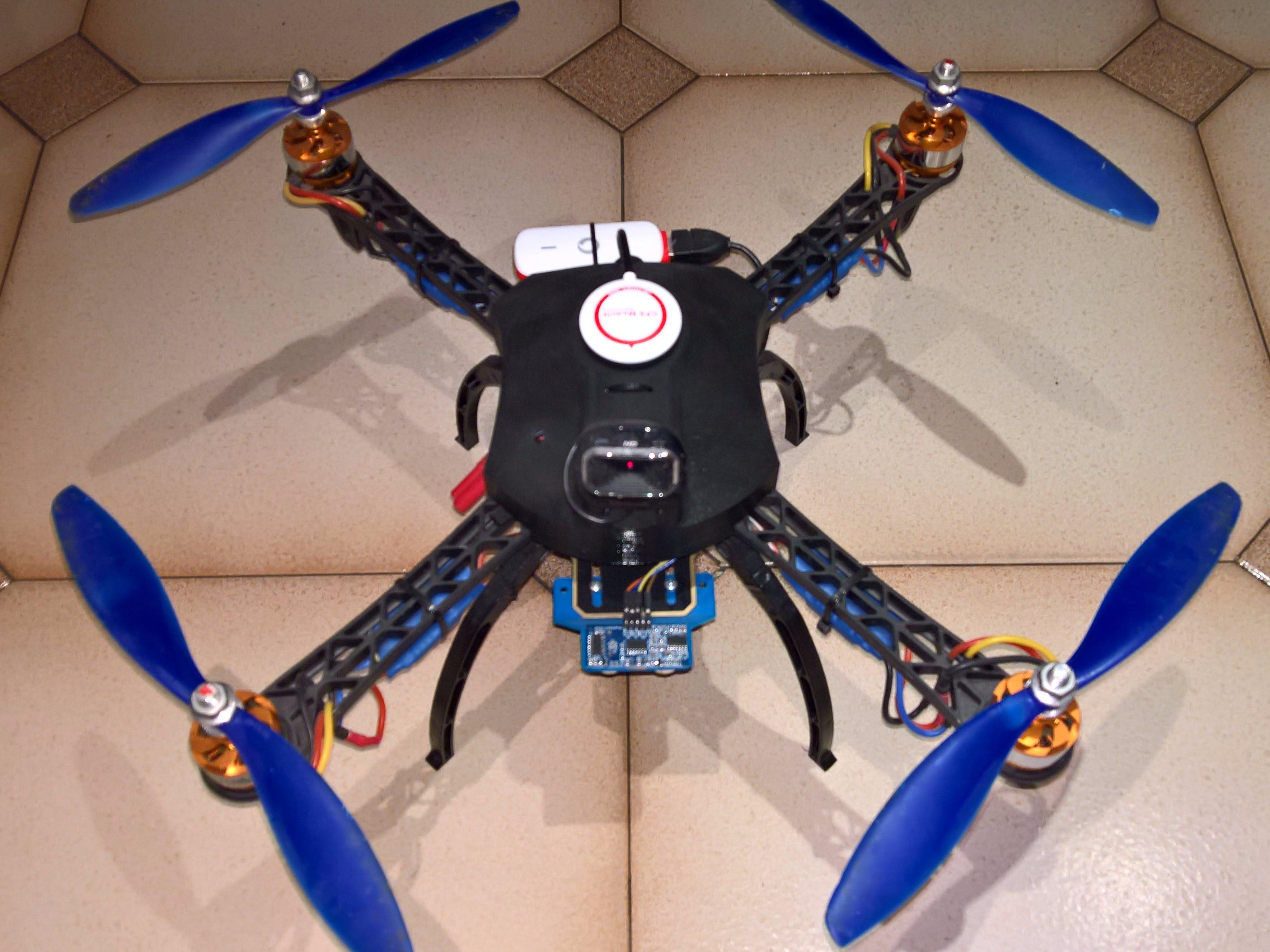 Drone Pi: A Windows 10 Raspberry Pi 4G Drone