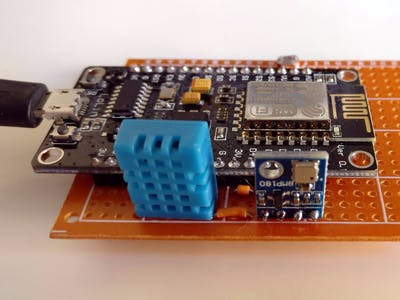 Simple Weather Station with NodeMCU, Arduino and ThingSpeak
