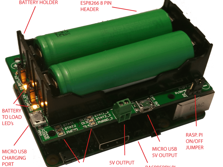 Pi18650 DUAL LI-ION BATTERY HAT