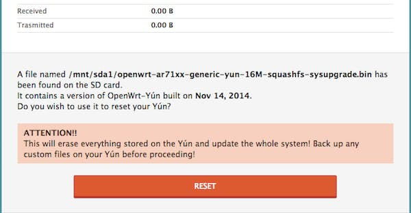 Image from Twilio guide on setting up Yún.