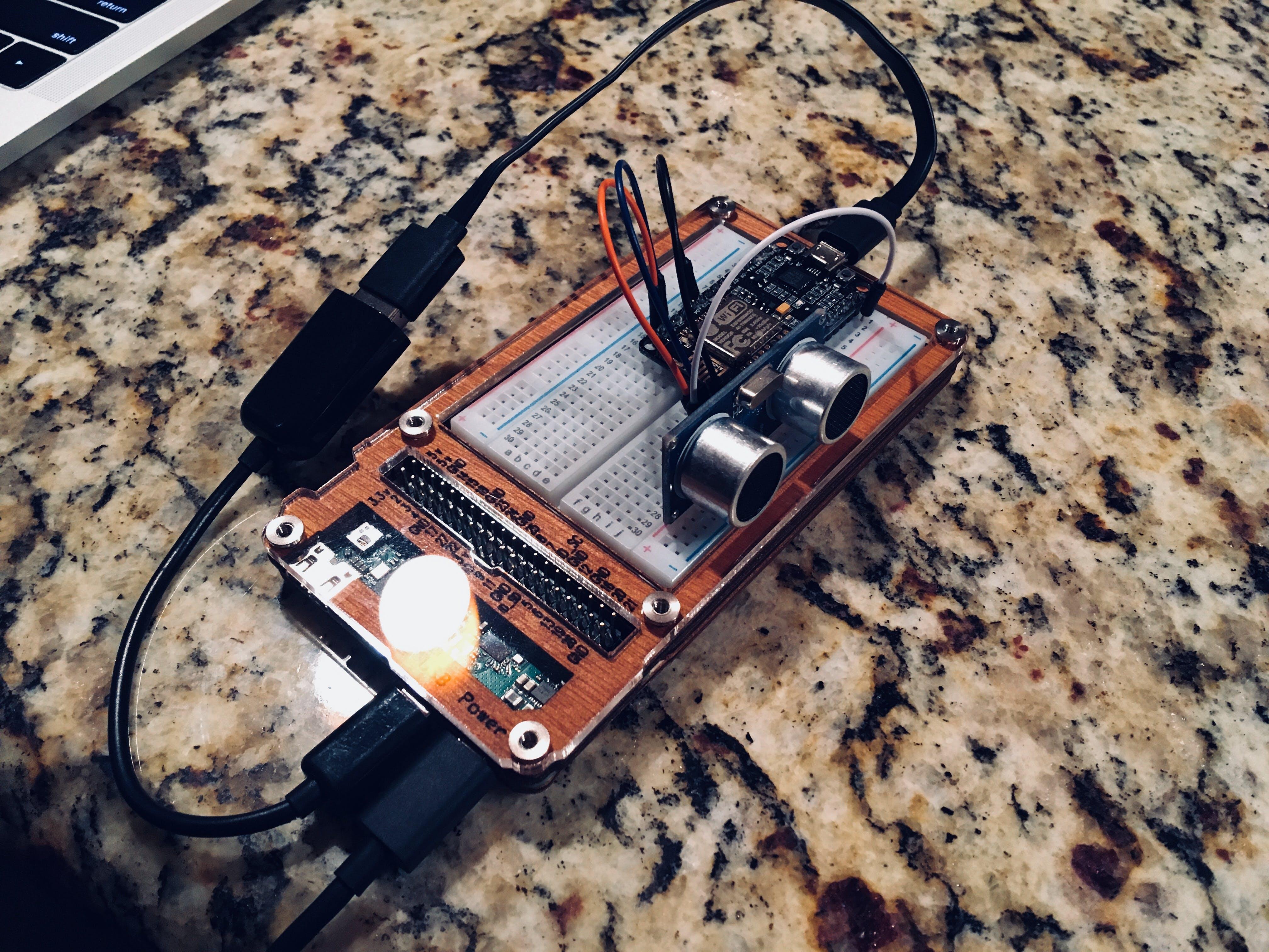 Prototyping the NodeMCU + Ultrasonic Sensor
