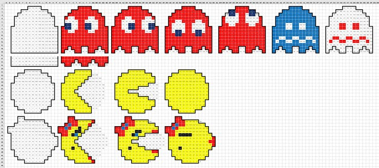 Excel Layout of Sprites