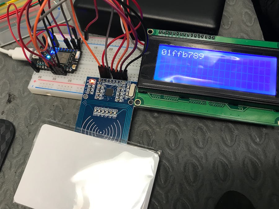 Reading RFID card or Key Ring and Display on LCD - Hackster io
