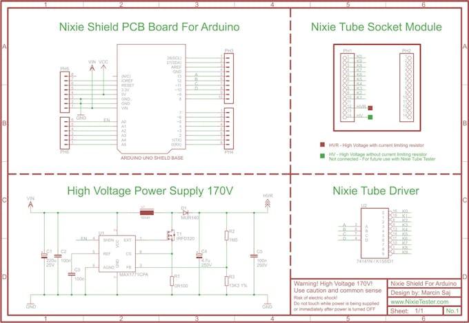 Nixie tube shield for arduino hackster