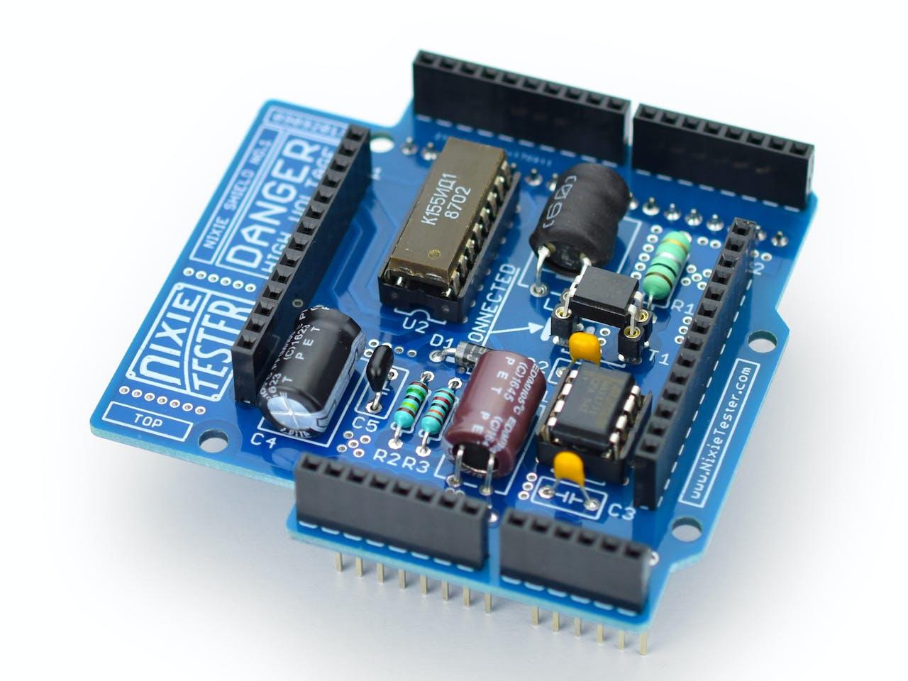 Nixie Tube Shield For Arduino Clock Circuit
