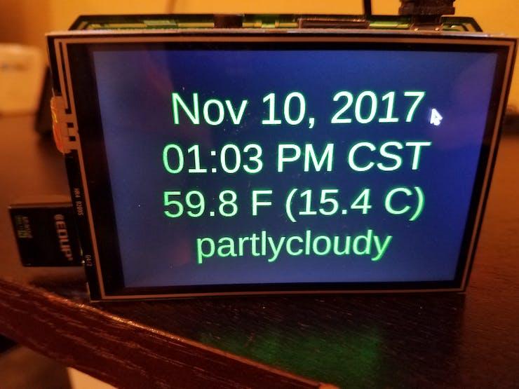 Raspberry Pi Clock and Weather Display - Hackster io