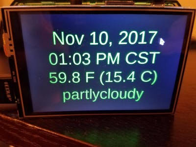 Raspberry Pi Clock and Weather Display
