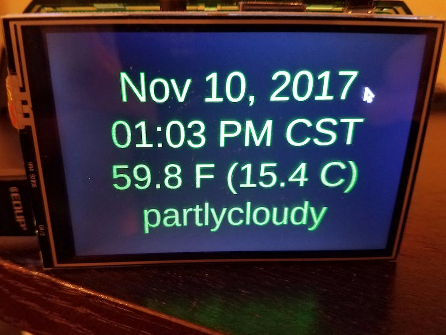 Raspberry Pi Clock and Weather Display - Hackster io