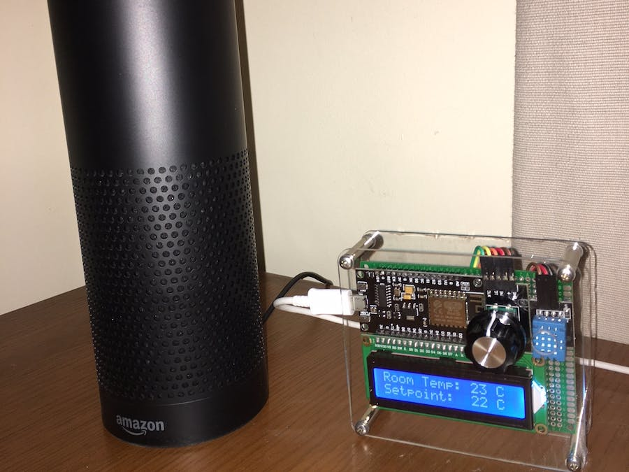 Alexa-Controlled Thermostat with NodeMCU v3 and Raspberry Pi