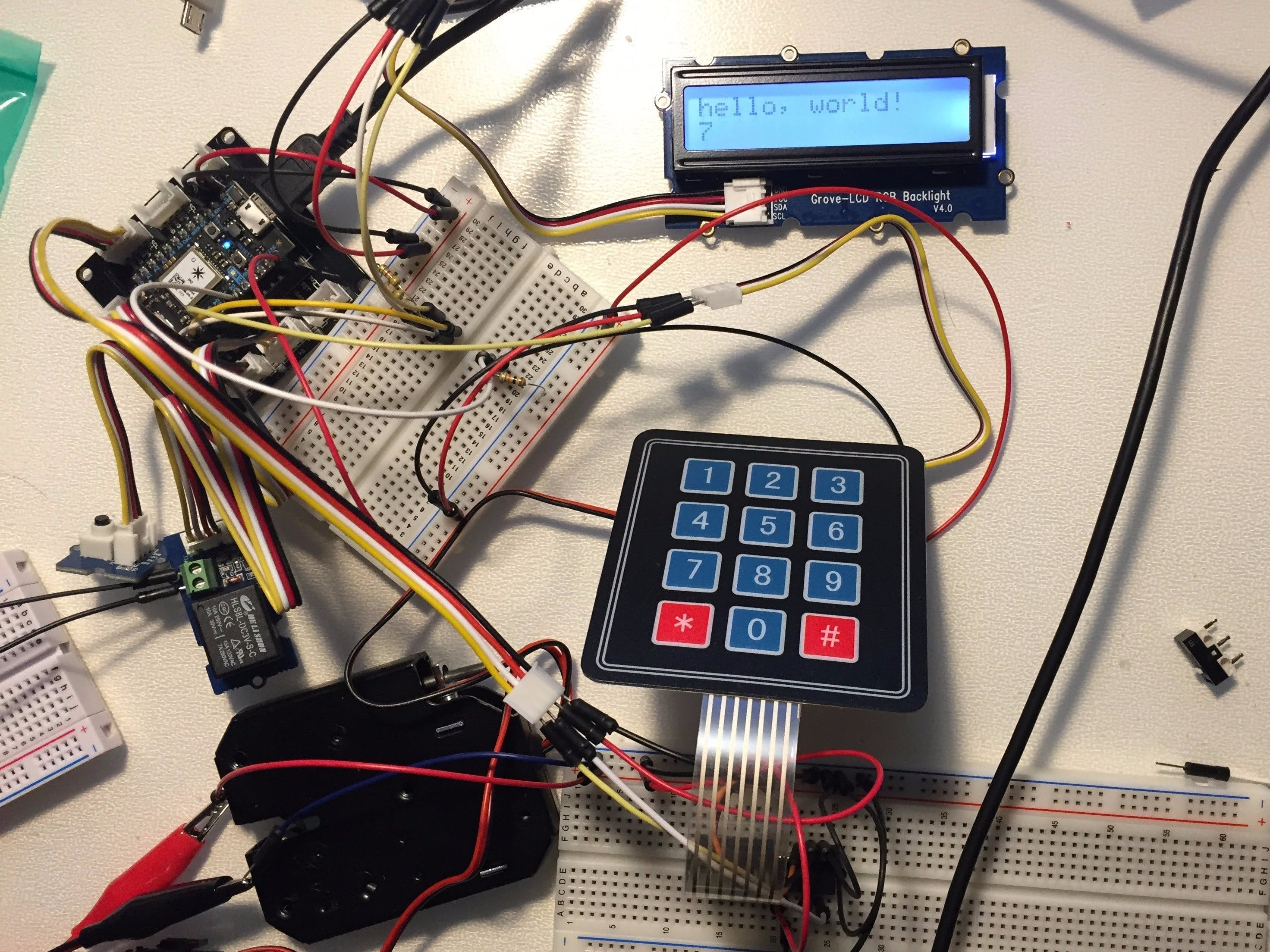 Particle Photon + Matrix Keypad + LCD using I2C