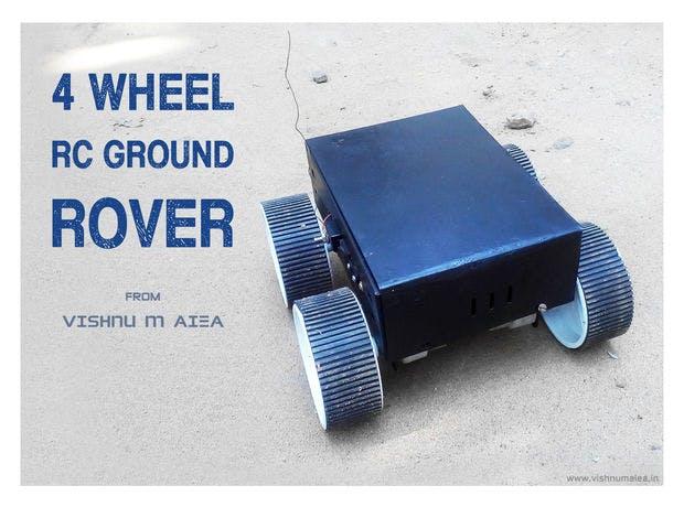 RC Four-Wheel Ground Rover