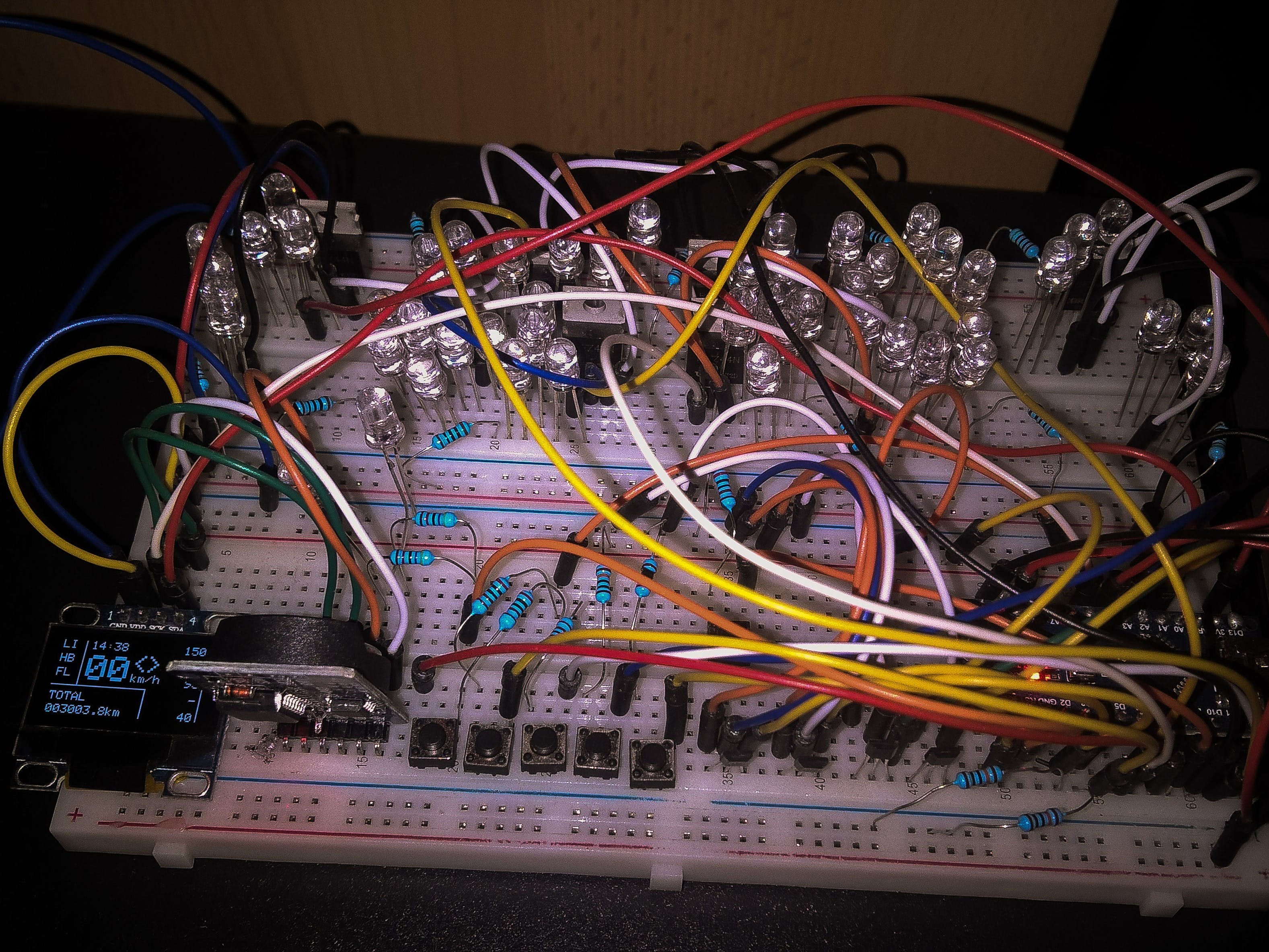 How project looks on breadboard
