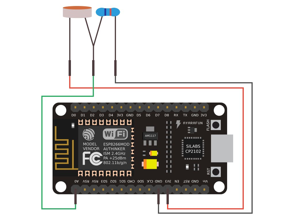 How To Connect The Ultrasonic And Ldr Sensors With Nodemcu L D R Circuit Diagram
