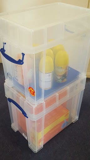 Cleaning supplies stock control