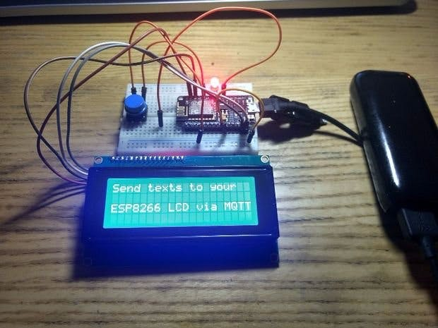 ESP8266/Arduino MQTT Memo Minder W/LCD