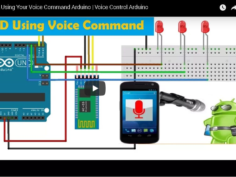Control led using your voice command arduino project hub