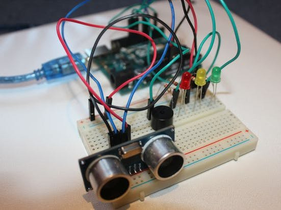 ultrasonic security system arduino project hub