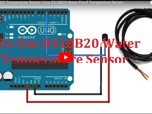 How to use ds b water proof temperature sensor