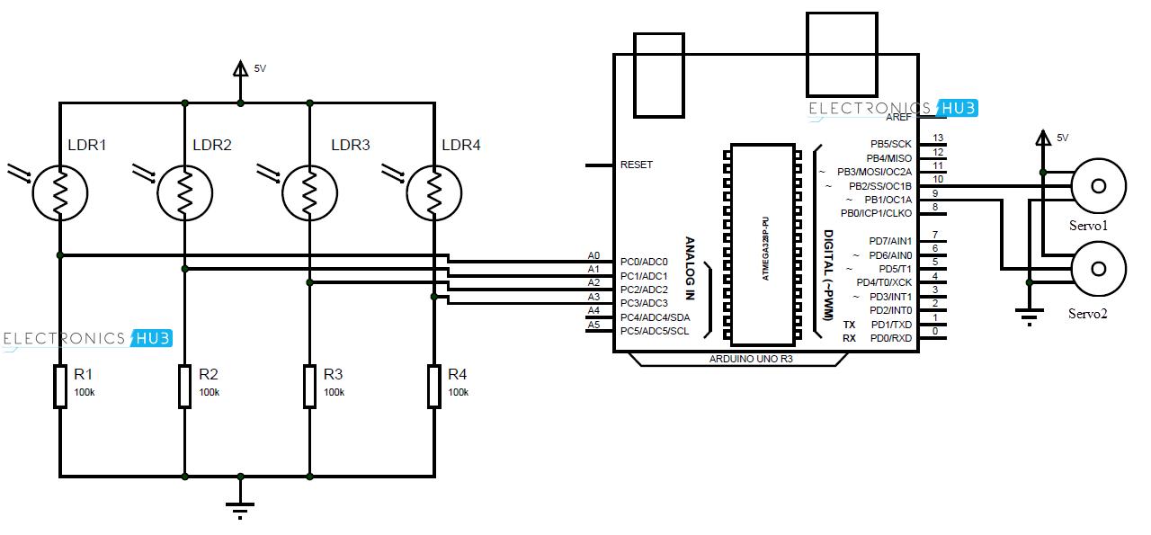 Sunflower Arduino Solar Tracker Hackster Io