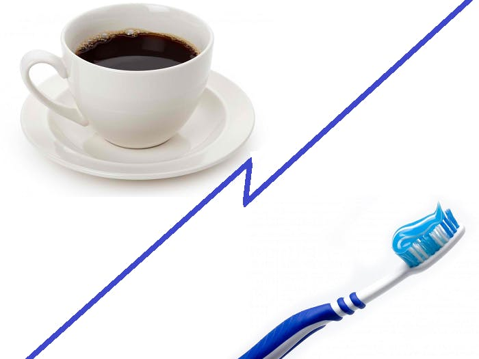 Toothbrush Activated Coffee Machine